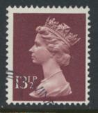 Great Britain SG X945 Sc# MH85    Used with first day cancel - Machin 13½p