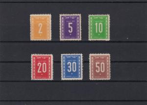 Israel Postage Due Mounted Mint Stamps Ref 24915