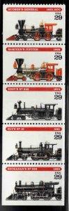 USA Scott 2843-2847 MNH** American Train Locomotives strip