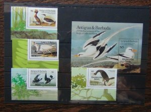 Barbuda 1985 Butterflies set & Miniature sheet MNH