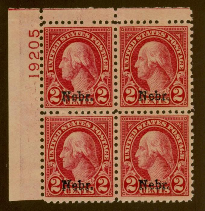 671 MINT Plate Block F-VF OG Selvage LH Cat$60