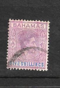 BAHAMAS 1938 5/-  KGVI  FU SG 156