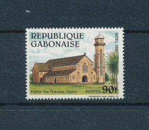 [104727] Gabon 1987 Christmas Weihnachten church  MNH