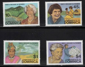 DOMINICA Scott 758-761 MNH** Women Set