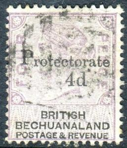 BECHUANALAND-1888 4d on 4d Lilac & Black.  A fine used example Sg 44