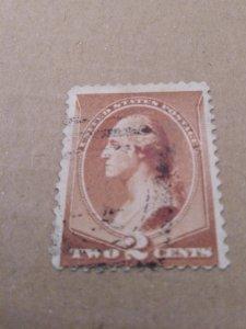 1883 US SCOTT 210 Brown Washington Bust Stamp 2C Used