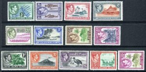 BRITISH SOLOMON ISLANDS-1939-51 LMM SET to 5/- Sg 60-72 4½d toned gum V42759