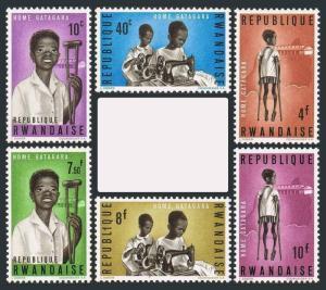 Rwanda 70-75,MH.Michel 71-76. Gatagara Home for handicapped children,1964