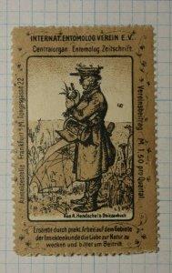 Intl Entomology Assn German Congress WW Clubs & Societies Poster Stamp