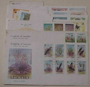 LESOTHO FDC 15 DIFF. CACHET MOSTLY UNADDRESSED