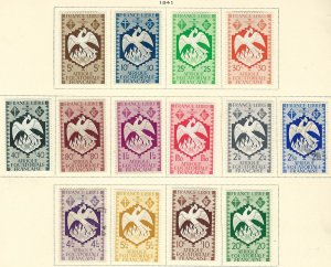 French Equatorial Africa 142-55 MLH + used (151-52 used) cv 10.35 BIN $5.00