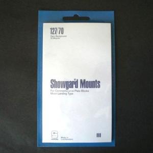 Showgard Stamp Mounts Size 127 / 70 BLACK Background Pack of 10