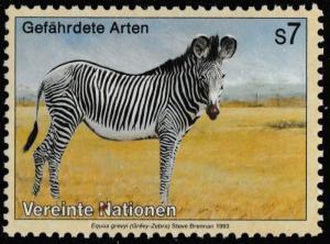 United Nations Endangered Species Grevy-Zebra s7 single MNH 1993