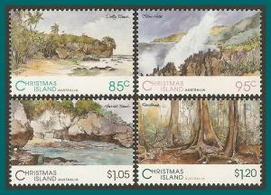 Christmas Island 1993 Views, MNH  350-353,SG378-SG381