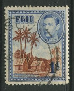 Fiji - Scott 118 - KGVI - Definitive - 1938 - Used - Single 1d Stamp