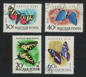 Hungary Butterflies and Moths 4v SG#1612-1616 MI#1633-1639A