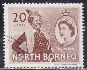 North Borneo 269 USED 1954 Bajau Chief
