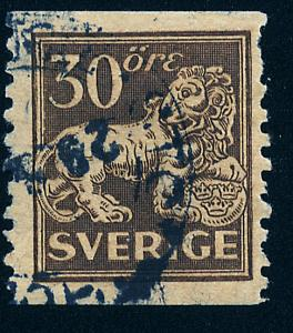 SWEDEN 121, 30o Lion, Used.