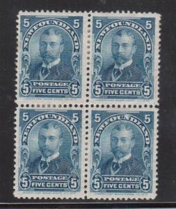 Newfoundland #85 VF Mint Block