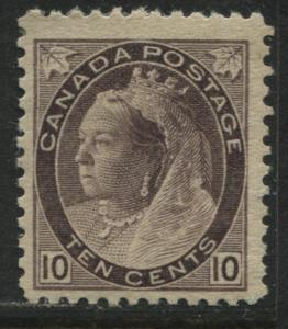 Canada QV 1897 10 cents Numeral mint o.g.