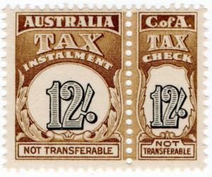 (I.B) Australia Revenue : Tax Instalment 12/-
