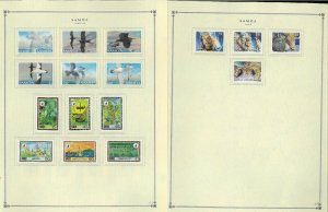 Samoa 1900-1989 MNH & H in Mounts (handful used) on Scott International Pages