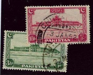 Pakistan SC#31 & 36 Used F-VF...Worth a Close Look!