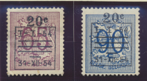 Belgium Stamps Scott #477 To 478, Used, Pre-Cancels, No Gum - Free U.S. Shipp...
