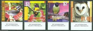 BEQUIA 2014 BIRDS SET OF FOUR  MINT NH
