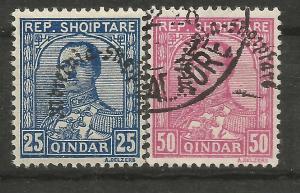 Albania Scott #232-233 MINT & USED