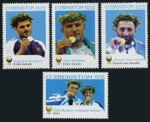 Uzbekistan 432-435,MNH. Olympics Athhens-2004.Medalists:Wrestling,Boxing.