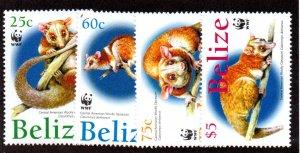 BELIZE 1177-80 MNH SCV $11.00 BIN $6.60 WWF