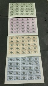 MOMEN: BAHAWALPUR SG #O28-31 1949 IMPERF BLOCKS MINT OG NH #195860-3754