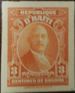 A) 1933, HAITI, NATIONAL REASONS, DIE PROOF, STENIO JOSEPH, VINCENT, ORANGE, AME