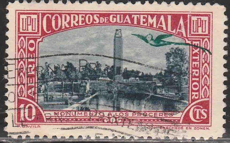 GUATEMALA C116, 10¢ MONUMENT. USED.F-VF. (11)