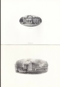 US BEP Engraved Cards lot of 13 Different Historic Locations VERY RARE