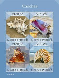 Z08 ST190303a Sao Tome and Principe 2019 Shells MNH ** Postfrisch