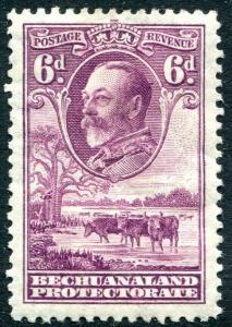 BECHUANALAND-1932  6d Purple Sg 104 MOUNTED MINT V31271