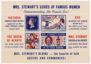 (I.B) US Cinderella : Mrs Stewart's Bluing Mini-Sheet (Issue 2)