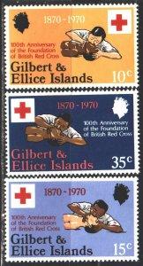 Gilbert Islands. 1970. 154-56. Red cross, medicine. MNH.