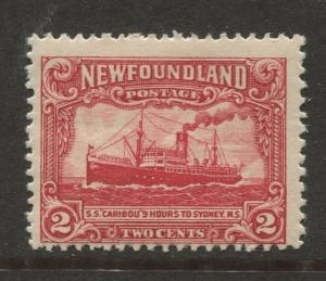 Newfoundland - Scott 146 - Pictorial Definitive - 1928- MH - Single 2c Stamp