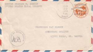 United States, Airmail, Postal Stationery, Fleet P.O., Censored