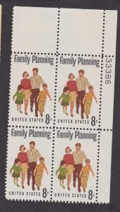 1455 Family Planning F-VF MNH plate block UR