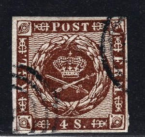 Denmark Nice SC #7a  VF Used on piece SCV$10...Such a Deal!