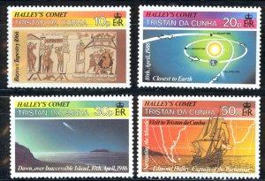 Tristan Da Cunha Sc# 384-387 MNH 1986 Halleys Comet