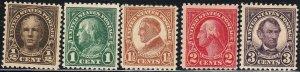 U.S. 551-573, 622-23, MH & MNH (32220)