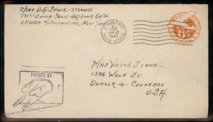 USA WWII APO Airmail Military Mail Cover 93811