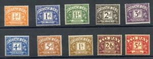 GREAT BRITAIN POSTAGE DUES SCOTT#J45/54 MINT N.H. (J55 & J54 LH) FULL O.G.