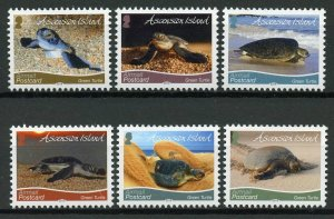 Ascension Island Turtles Stamps 2019 MNH Green Turtle R/P Reptiles 6v Set