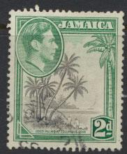Jamaica  SG 124c  - Used perf 13 x 13½-  see scan and details